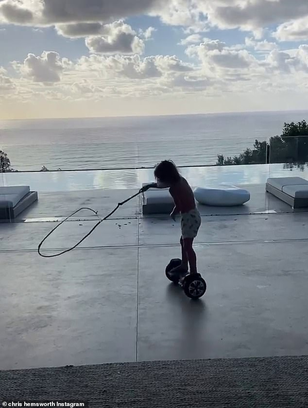 What a gift!  Broken parents seem to have strewn a flying board for their toddlers, and an Indiana Jones-style whip, the boy was hovering around his head as he wandered around the backyard