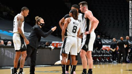 Hammon, who was spotted here coaching Tottenham on Wednesday, joined the team as an assistant in 2014, becoming the first woman to hold a full-time coaching position in the NBA.